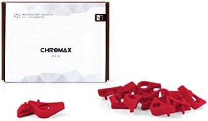 Chromax Bundle Rosso: 3x Noctua NF- NF-S12A PWM chromax.black.swap, Ventola 4-Pin (120mm) + NA-SAVP1 / NA-SAV2 chromax.red
