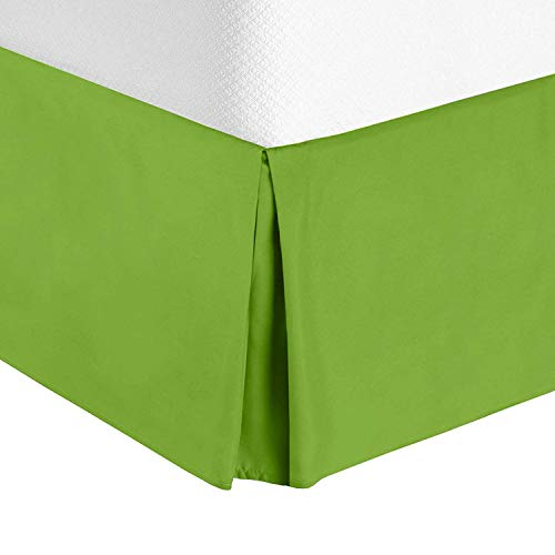 "Bellacasa creations Box Pleated Bed Skirt-400 Thread Count 100% Egyptian Cotton,Quadruple Pleated, Wrinkle and Fade Resistant, 19"" Tailored DropInches(California King,Garden - Tailored Garden Valance"
