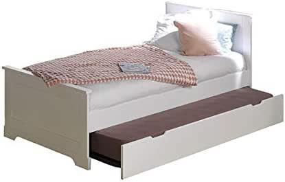 FEELHARMONIE - Pack cama nido lila con somier y colchón, color ...