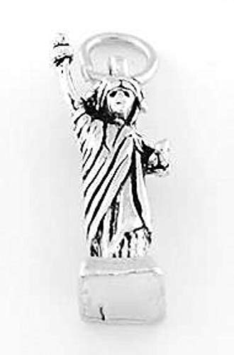 Sterling Silver NY Statue of Liberty Charm Pendant Jewelry Making Supply Pendant Bracelet DIY Crafting by Wholesale Charms
