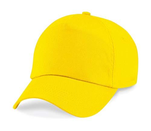 Yellow Original Beechfield Size One 5 B10 Gorra paneles q4xwt640