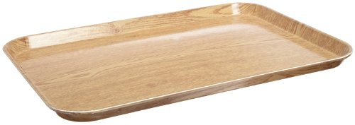 Carlisle 2216WFG065 Fiberglass Glasteel Wood Grain Rectangular Tray, 22.12