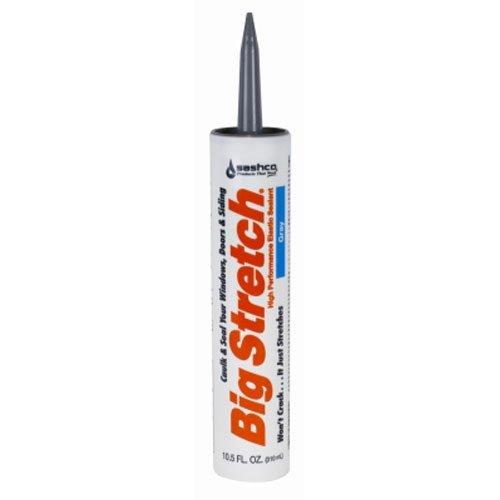 Sashco Big Stretch Acrylic Latex High Performance Caulking Sealant, 10.5 oz Cartridge, Gray