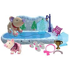 Toy Teck Teacup Piggies Champions Ice Skating Rink Play Set