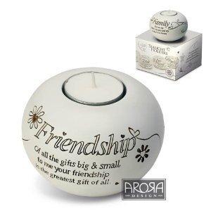 (Arora Said with Sentiment Tealight Holder - Friendship)