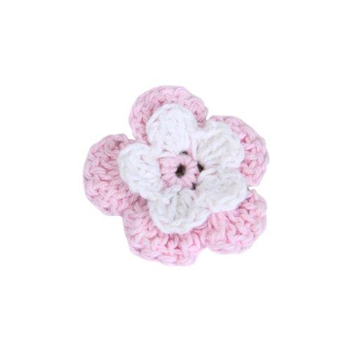 20 Flor Croché Apliques Artesanal Costura Decor Bolsa Ropa Rosa Hecho A Mano Generic 14004659