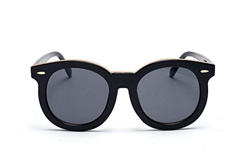 GAMT Classic Round Mirror Fashion Arrows Plastic Sunglasses Black Frame Black - Replica Sunglasses Versace