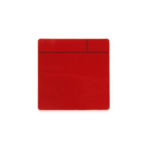 Aimant Experts Mf7575(RES) -50Scrumboard Aimant avec surface brillant effaçable à sec, petite, Rouge (lot de 50)