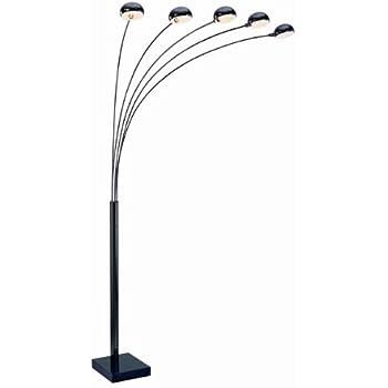 Superior Lite Source LS 9485M/BLK Multi Lite 5 Lite Arch Floor Lamp