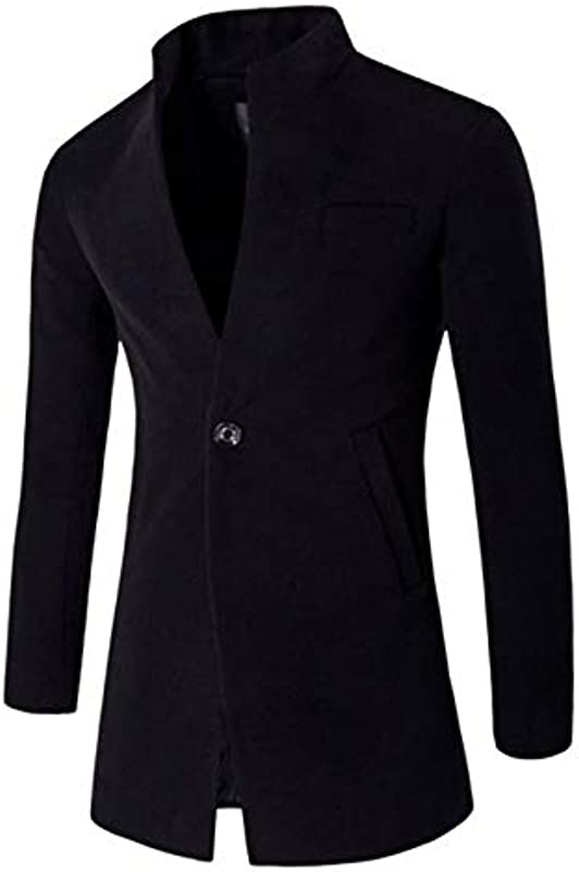 Loeay Männer Winter Jacken Knopf Einfarbig Mode Kleidung Trench Sweater Schlank Langarm Strickjacke Warm Over Top Mäntel Outwear: Odzież