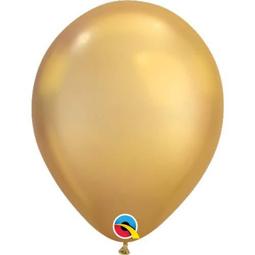 Qualatex Latex Balloon 58271 CHROME - GOLD, 11'',