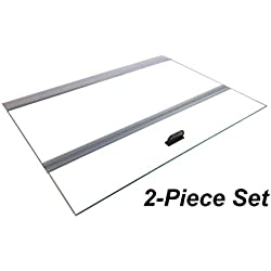 H2Pro Glass Canopy 2Piece Set for Marineland Perfecto 70/75/90/110 Gallon 48x18 Aquarium Fish Tank (Eachpiece Measure 22.68 x 16.93 x 0.16in)