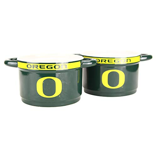 (NCAA Gametime 23oz Ceramic Dip Bowls 2-Pack (Oregon Ducks))