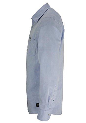 CASAMODA Casual Fit Hemd Langarm Fischkrad blau