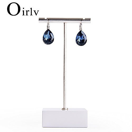 Oirlv T-Bar Jewelry Display Stand Earring Holder (White)