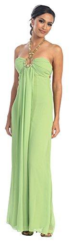 Brautjungfernkleid 46 Korallenrot Abschlussball Lang Kleid für Elegant Kleid Chiffon Abendkleid Hochzeit Gr PwqR1a4