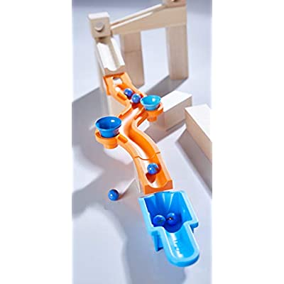 HABA Ball Track – Complementary Set Sound Effects   Wooden Marble Run, Toys for 4 Year Old   303942: Toys & Games