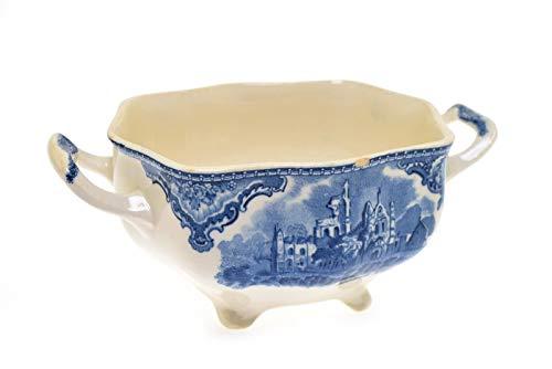 Old Britain Castles Blue Johnson Brothers Sugar Bowl (No Lid) (Sugar Bowl Castle)