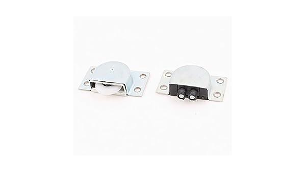 1 par de ruedas de plástico de 23 mm Gabinete Armario puerta corrediza de juego de rodillos - - Amazon.com