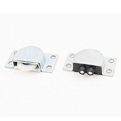 1 par de ruedas de plástico de 23 mm Gabinete Armario puerta corrediza de juego de