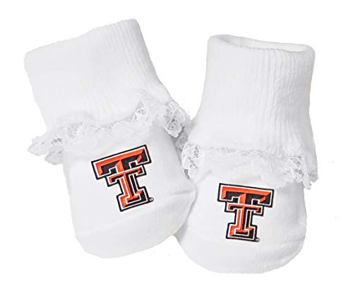 Future Tailgater Texas Tech Red Raiders Baby Toe Booties with Lace