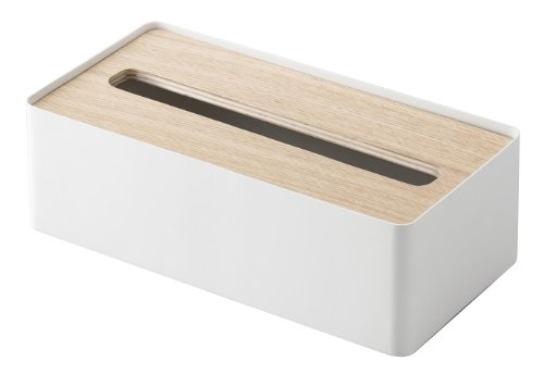 YAMAZAKI home Rin Tissue Case with A Lid, Natural