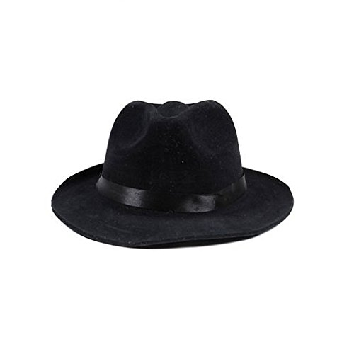 Fancy Party Halloween Velvet Black Pimp Hat (Velvet Pimp Hat)
