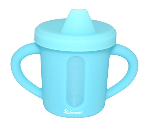 Bakerpan Silicone Toddler Spill Proof Sippy Cup with Level Indicator Window