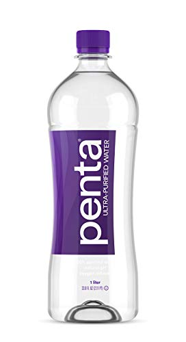 Penta 100% Ultra Purified Bottled Water, Natural pH Hydration, (13 Step Purification Process), 33.8 Fl. Oz (Pack of 12)
