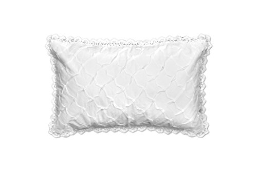 Heritage Lace Seabreeze Pillow, 12 by 20-Inch, White
