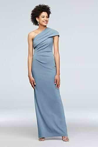 a74d39e5dae7 David's Bridal Ruched One-Shoulder Stretch Crepe Bridesmaid Dress Style  AP2E205030