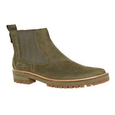 (Timberland Womens Courmayeur Chelsea Casual Boots Green 8.5)