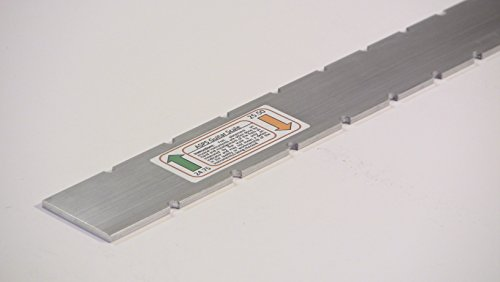 Luthier Tool Straight Edge Notched Scale 24.75 / 25.5 for Gibson Fender | Guitar Necks .125 x 1.5 x 23.25 6061 T6511 ()