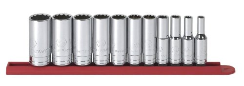 GEARWRENCH 80563 11 Piece 3/8-Inch Drive 12 Point Deep SAE Socket Set