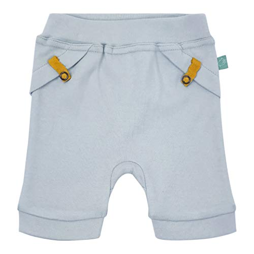Finn + Emma Organic Cotton Pull-up Shorts for Baby Boy or Girl - Ice Flow Blue, 9-12 Months