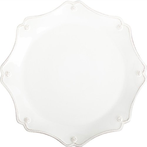 Scallop Charger Plate - Juliska Berry and Thread Scallop Charger/Server Plate Whitewash, Ceramic