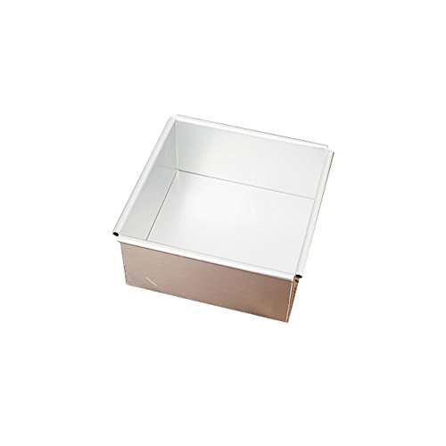 Aluminum Alloy Square Cake Mold Baking Mold Cheese Cake Mold Pudding Mold 8 Inch 6 Inch (Size : 8 inches)