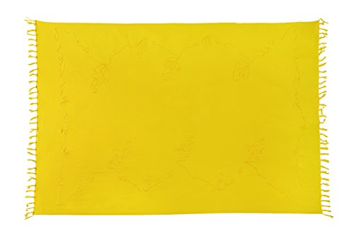 PEY Ciffre Original Strandtuch Lunghi Wickelrock Sarong El Pareo verschieden Farben Schnalle Gelb Saunatuch Wickeltuch Tolle Dhoti Vertriebs Stickerei 4xFTR