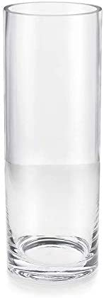 Serene Spaces Living Set of 12 Classic Clear Glass Cylinder Vase