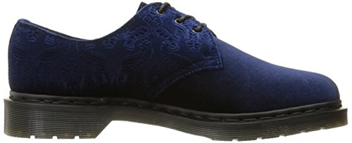 Martens Dr Women's Shoes Navy Velvet 1461 PTvxdT