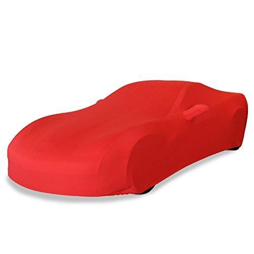 - 2005-2013 C6 Corvette Ultraguard Stretch Satin Indoor Car Cover (Red)