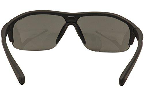 Nike Grey with Silver Flash Lens Run X2 Sunglasses, Matte Black Black