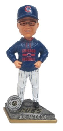 MLB Chicago Cubs Joe Maddon Exclusive Manager Bobblehead, Blue, 8'' by Forever Collectibles