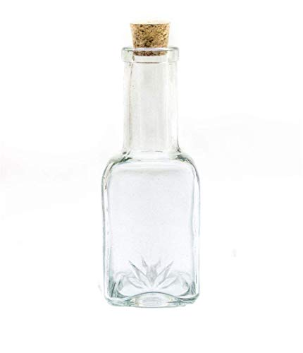 Mexican Handblown Glass Bottle Decanter 25.3 Oz Shot Drink Dispenser for Tequila,Whiskey Liquor Holder Agave Design. Great for your outdoor bar cart