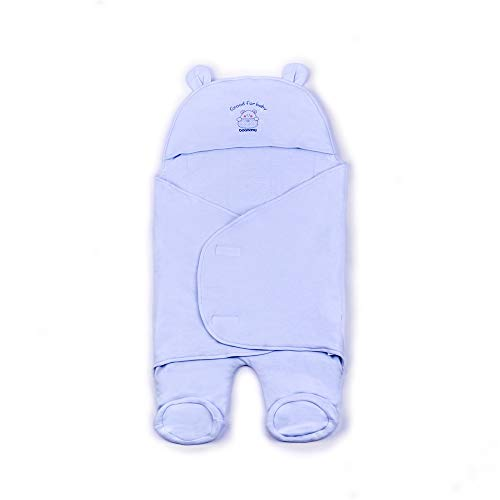 Sleeper Co Universal (Baby Receiving Blanket Hooded Swaddle Blanket Un-Dyed Cotton Unisex Wrap for Newborn Boys and Girls)