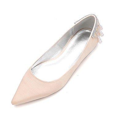 Bowknot Boda Champán Las CN41 Primavera amp;Amp; Shoes Satin Noche Wedding Mujeres'S Verano Heelivory De Rhinestone Rubí Confort UK7 RTRY EU40 Vestido Azul Plana US9 6qwZ8d6