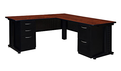 Regency Fusion 66-Inch Double Pedestal L-Desk with 48-Inch Return, Cherry (Regency Desk Executive)