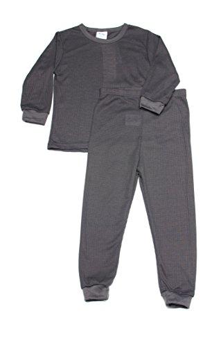 Boys Thermal Long Underwear Set (12M, Charcoal)