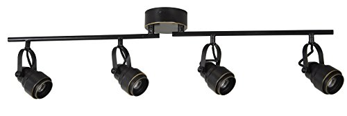 Fixed Track (Tensor 19193-000 4-Light LED Adjustable Fixed Track Light, Black)