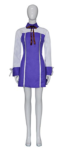 NSOKing Anime Fairy Tail Wendy Marvell Cosplay Costume Dress Outfit (Custom-Made, -
